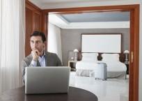 Viajeros de negocios WiFi